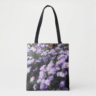 Woods Blue Asters, Geometric side 2 Tote Bag