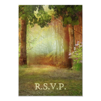 Woods Forest Outdoor Casual Elegant RSVP Card