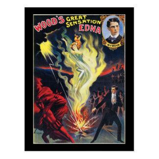Woods Great Sensation, Edna Postcard