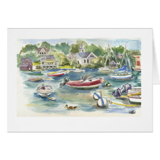 Wood's Hole Harbor scene Card
