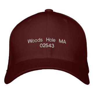 Woods Hole MA 02543 - ball cap Embroidered Hat