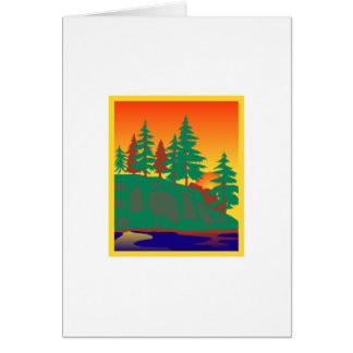 Woods & Water Scene Greeting Card