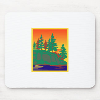 Woods & Water Scene Mouse Pad