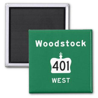 Woodstock 401 magnet
