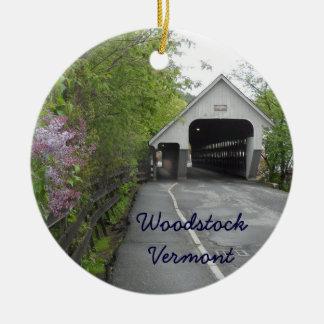 Woodstock Covered Bridge, Vermont Ceramic Ornament