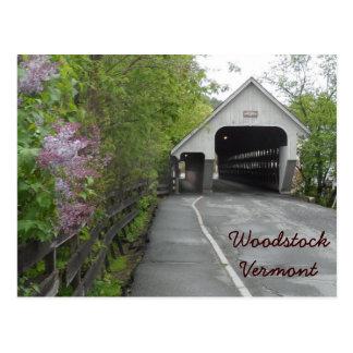 Woodstock Covered Bridge, Vermont Postcard