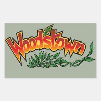 Wood'stown by Alphonse Daudet Rectangular Sticker