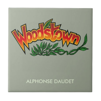 Wood'stown by Alphonse Daudet Small Square Tile