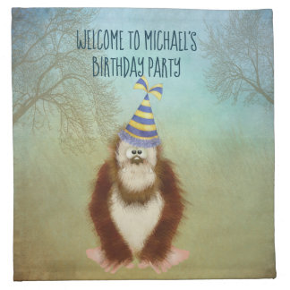 Woodsy Bigfoot/ Squatch Personalized Napkin