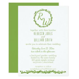 Woodsy Elegance | Wedding Vine 5 x 7 Greenery Card