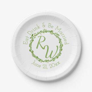 Woodsy Elegance | Wedding Vine Garden Picnic Paper Plate
