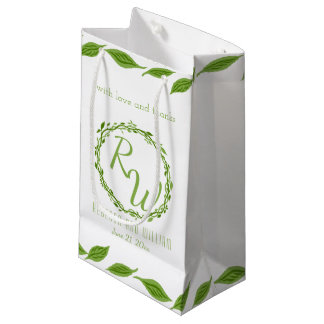Woodsy Elegance | Wedding Vine Leaves Versatile Small Gift Bag