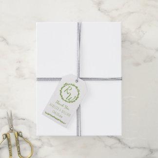 Woodsy Elegance | Wedding Vine Thank You Green Gift Tags
