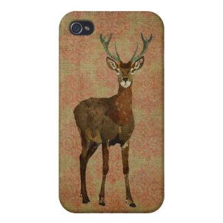 Woodsy Elk Floral iPhone Case iPhone 4/4S Cases