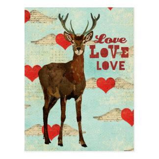 Woodsy Elk Love Postcard