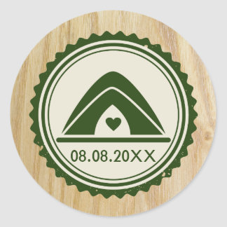 Woodsy Wedding & Glamping Tent Sticker