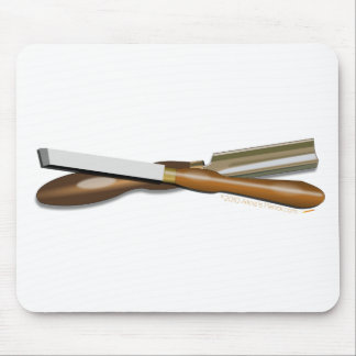 Woodturning Tools Crossed Roughing Gouge and Skew Mouse Pad