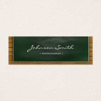 Woodworker - Cool Blackboard Personal Mini Business Card