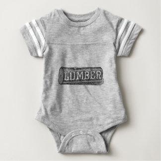 Woodworker Lumber Log Graphic Baby Bodysuit