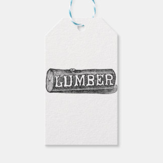 Woodworker Lumber Log Graphic Gift Tags