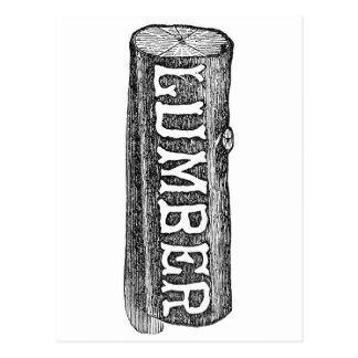 Woodworker Lumber Log Graphic Postcard
