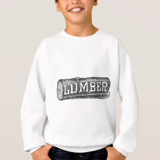 Woodworker Lumber Log Graphic Sweatshirt
