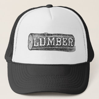 Woodworker Lumber Log Graphic Trucker Hat