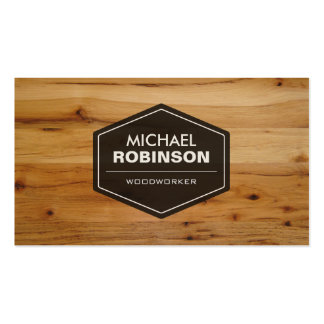 Woodworker - Modern Wood Grain Look Pack Of Standard Business Cards