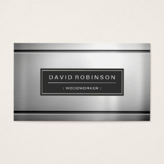 Woodworker - Premium Silver Metal Business Card