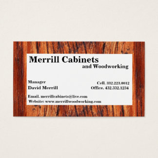Woodworking/cabinets Business Card