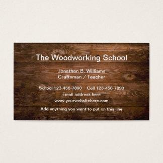 Woodworking School Business Card