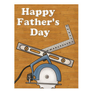 Woodworking/Tools D1 - Happy Father's Day Postcard