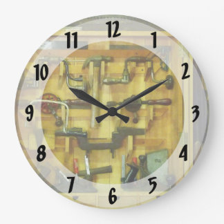 Woodworking Tools Large Clock