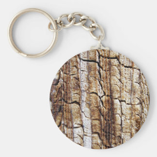 Woody Basic Round Button Key Ring