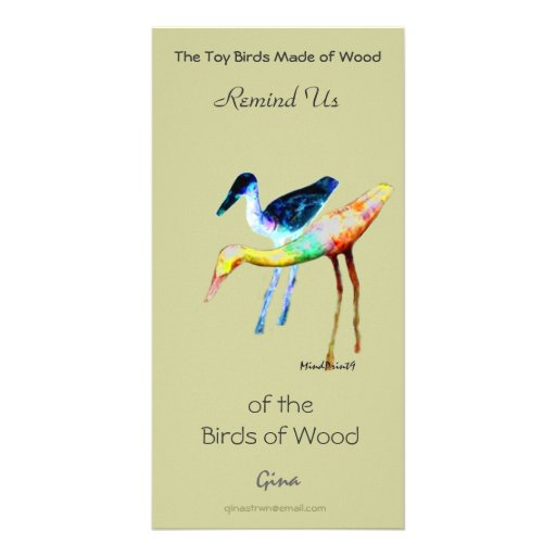 Woody Birds Custom Photo Card