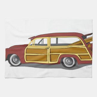 Woody Car Tea Towel