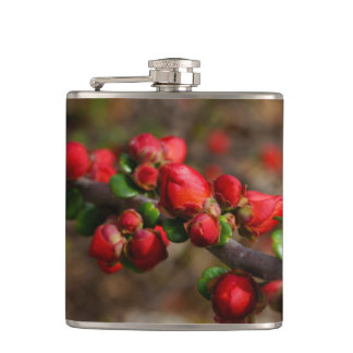 Woody Red Blooms Flask