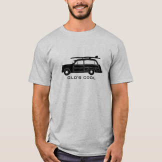 Woody Surf Wagon (black) - Old's Cool T-Shirt
