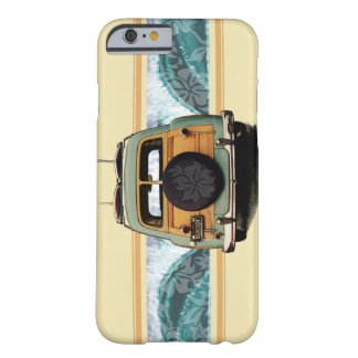 Woody Wave Hawaiian Surf Illustration Barely There iPhone 6 Case