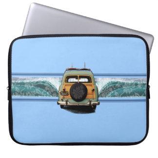 Woody Wave Surfer Neoprene Wetsuit Laptop Sleeve