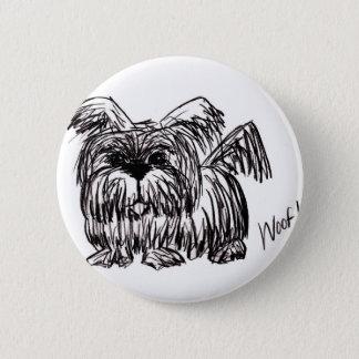 Woof A Dust Mop Dog 6 Cm Round Badge