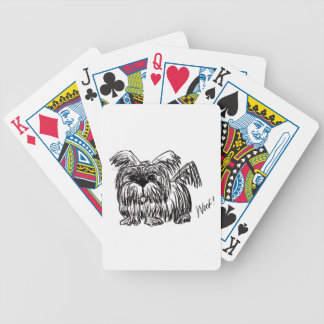 Woof A Dust Mop Dog Bicycle Playing Cards