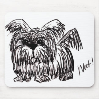 Woof A Dust Mop Dog Mouse Pad