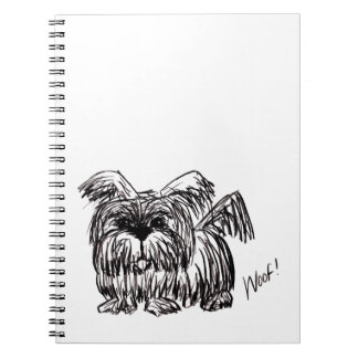 Woof A Dust Mop Dog Notebooks