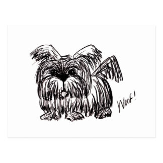 Woof A Dust Mop Dog Postcard