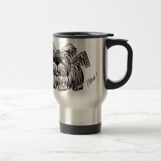 Woof A Dust Mop Dog Travel Mug