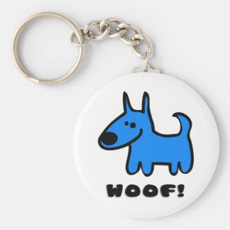 Woof! Basic Round Button Key Ring