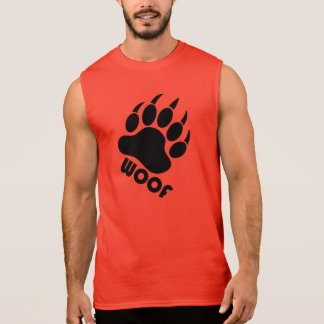 Woof Bear Pride Claw (Black) Sleeveless Shirt