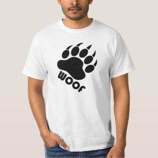 Woof Bear Pride Claw (Black) T-Shirt