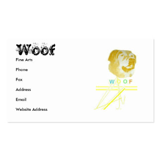 Woof Business Cards